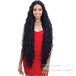 Model Model Synthetic Hair Deep Invisible Part Wig - JANE