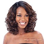 Model Model Synthetic Hair Lace Deep Invisible L Part Lace Front Wig - HALLIE