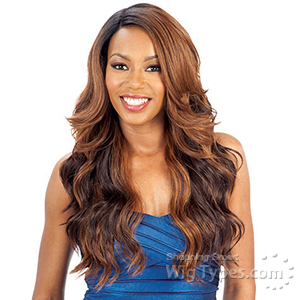 Model Model Synthetic Hair Lace Deep Invisible L Part Lace Front Wig - ALPINE MEADOW