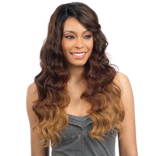 Model Model Synthetic Hair Lace Deep Invisible L Part Lace Front Wig - PERUVIAN NATURAL WAVE