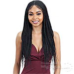 Model Model Synthetic Hair Braided 5x5 Lace Wig - CORNROW BRAIDS