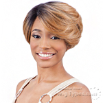 Model Model Synthetic Hair Lace Deep Invisible Diagonal Part Lace Front Wig - DAVINA