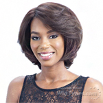 Model Model Synthetic Hair Lace Deep Invisible L Part Lace Front Wig - GOLDEN MEADOW