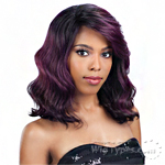 Model Model Synthetic Hair Lace Deep Invisible L Part Lace Front Wig - FRENCH MEADOW