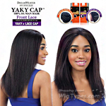 Model Model 100% Remy Human Hair Lace Front Wig - Yaky Cap Lace 20 (Full Sew-In, Double Weft Yaky on a Cap)