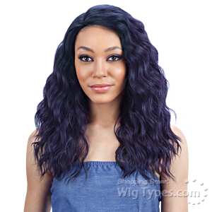 Model Model Synthetic Hair Lace Deep Invisible L Part Lace Front Wig - PASSION MEADOW