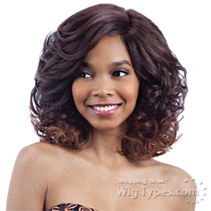 Model Model Synthetic Hair Lace Deep Invisible L Part Lace Front Wig - RICH MEADOW