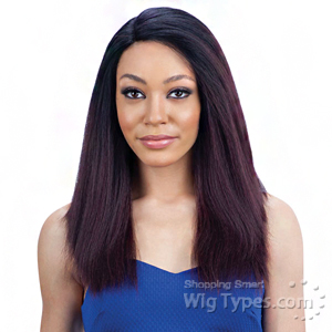 Model Model Synthetic Hair Lace Deep Invisible L Part Lace Front Wig - WHITE MEADOW