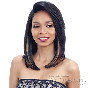 Model Model Synthetic Hair Over Bang Lace Part Wig - FABIA (5 inch deep lace side part)