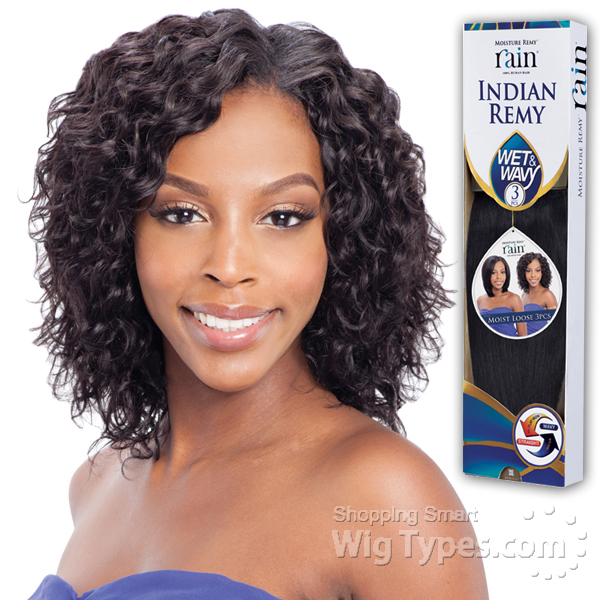 Indian Remy Human Hair Rain Moist Loose Pcs Wet