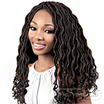 Motown Tress Synthetic Hair 3x Feather Lite Pre Looped Braid - C GLOC183 (goddess locs 18)