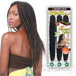 Motown Tress End-Loop Synthetic Hair Senegal Twist Braid - CST 3X MEGA (14/14/14)