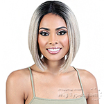 Motown Tress Human Hair Blend Lace Deep Part Wig - HBLDP JET (3.5 inch deep part)