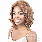 Motown Tress 100% Brazilian Virgin Remiy Human Hair 2 inch Lace Front Wig - HBR L ALI
