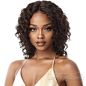 Outre Mytresses Gold Label 100% Unprocessed Human Hair Lace Front Wig - NATURAL CURLY DEEP