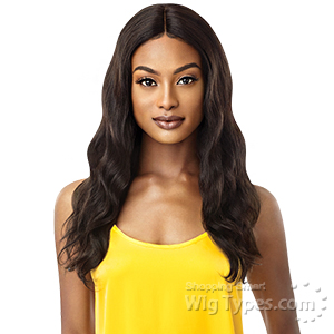 Outre Mytresses Gold Label 100% Unprocessed Human Hair Lace Front Wig - NATURAL WAVE 24