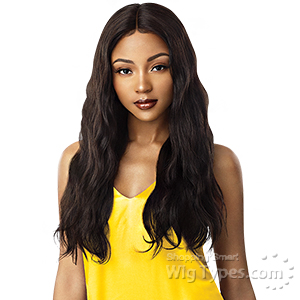 Outre Mytresses Gold Label 100% Unprocessed Human Hair Lace Front Wig - NATURAL WAVE 26