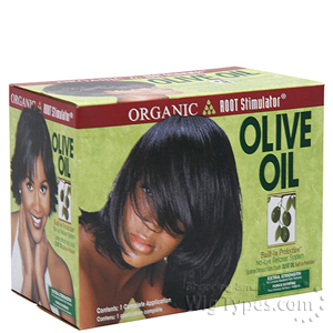 Organic Root Stimulator Olive Oil No-Lye Relaxer Kit Extra Strength