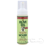 Organic Root Stimulator Olive Oil Wrap & Set Mousse 7 oz