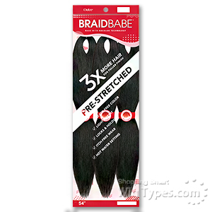 Outre Synthetic Pre Stretched Braid - 3X BABE 54