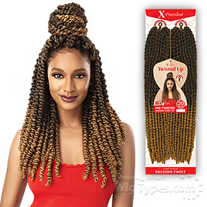 Outre Synthetic Braid - X PRESSION TWISTED UP  PASSION TWIST 18