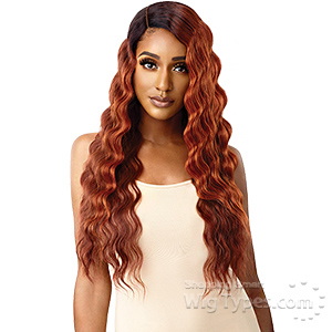 Outre Color Bomb Synthetic Swiss Lace Front Wig - OLINA