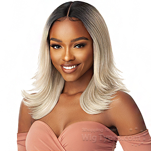 Outre Synthetic I-Part Swiss Lace Front Wig - LOIS