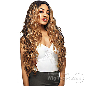 Outre Synthetic I-Part Swiss Lace Front Wig - EBONY