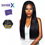 Outre Synthetic Swiss X Lace Front Wig - VIXEN YAKI (4 Way Part Cap Construction)
