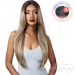 Outre &Play Human Hair Optimix Lace Front Wig - CHARLENE