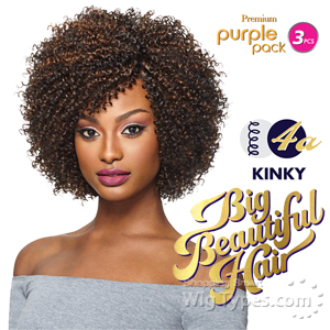 Outre Purple Pack Human Hair Blend Weaving - BIG BEAUTIFUL HAIR 4A KINKY 3PCS