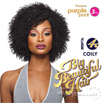 Outre Purple Pack Human Hair Blend Weaving - BIG BEAUTIFUL HAIR 4C COILY  3PCS