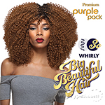 Outre Purple Pack Human Hair Blend Weaving - BIG BEAUTIFUL HAIR - 3C - WHIRLY