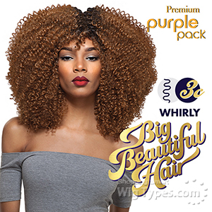 Outre Purple Pack Human Hair Blend Weaving - BIG BEAUTIFUL HAIR 3C WHIRLY