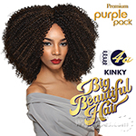 Outre Purple Pack Human Hair Blend Weaving - BIG BEAUTIFUL HAIR - 4A - KINKY