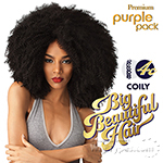 Outre Purple Pack Human Hair Blend Weaving - BIG BEAUTIFUL HAIR - 4C - COILY