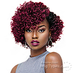 Outre Purple Pack Salon Set Curls Human Hair Blend Weaving - ROD SET 3PCS