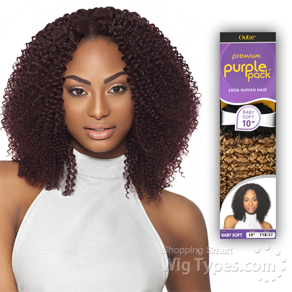 Outre 100 Human Hair Weave Purple Pack Baby Soft 14 Wigtypes