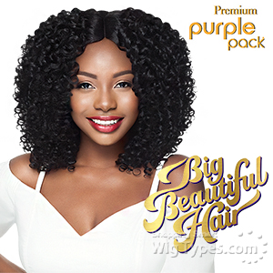 Outre Purple Pack Human Hair Blend Weaving - BOUNCY