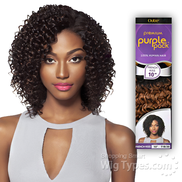 Outre 100 Human Hair Weave Purple Pack French Kiss 14 Wigtypes
