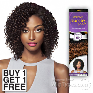 Outre 100% Human Hair Weave - PURPLE PACK FRENCH KISS 10 (Buy 1 Get 1 FREE)