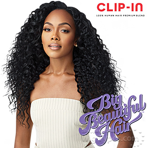 Outre Big Beautiful Hair Human Hair Blend Clip in - PERUVIAN WAVE 18