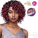 Outre Purple Pack Human Hair Blend Weaving - WILD & WAVY - WILD LOOSE 3PCS
