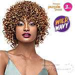 Outre Purple Pack Human Hair Blend Weaving - WILD & WAVY - WILD SPIRAL 3PCS