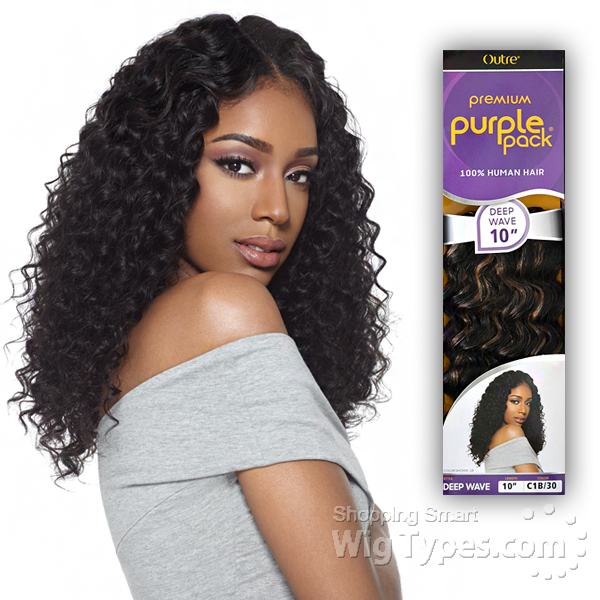 Outre 100 Human Hair Weave Purple Pack Deep Wave 14