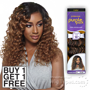Outre 100% Human Hair Weave - PURPLE PACK HAWAIIAN WAVE 10 (Buy 1 Get 1 FREE)