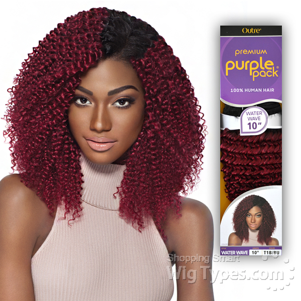 Outre 100 Human Hair Weave Purple Pack Water Wave 14 Wigtypes