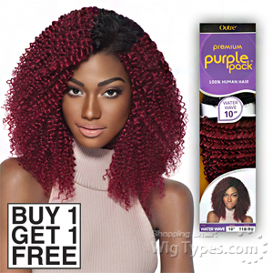 Outre 100% Human Hair Weave - PURPLE PACK WATER WAVE 12 (Buy 1 Get 1 FREE)