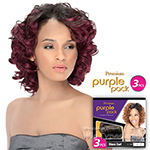 Outre Purple Pack Human Hair Blend Weaving - JADE SWIRL 3 PCS