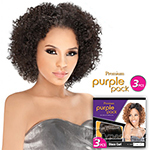 Outre Purple Pack Human Hair Blend Weaving - JERRY CURL 3 PCS